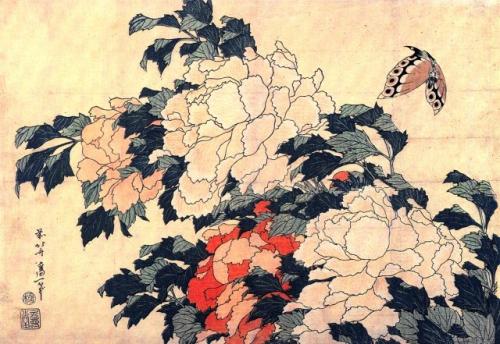 hokusai, pivoines et papillon.jpg