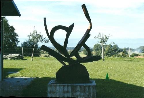 sculptures de bernard lacroix,le cœur ouvert,cervens