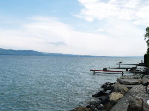 bernard lacroix, poésie, octobre à nernier, lac léman